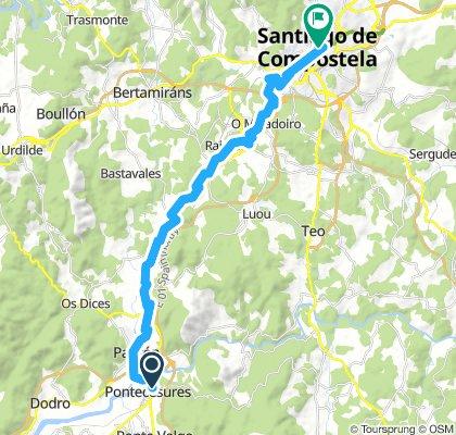 From Pontecesures to Santiago de Compostella
