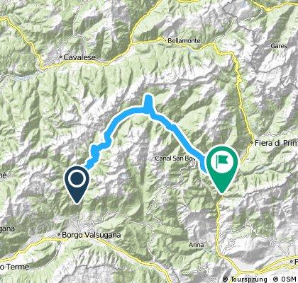 Cycling the Alps Passo Cinque Croci (2018m)
