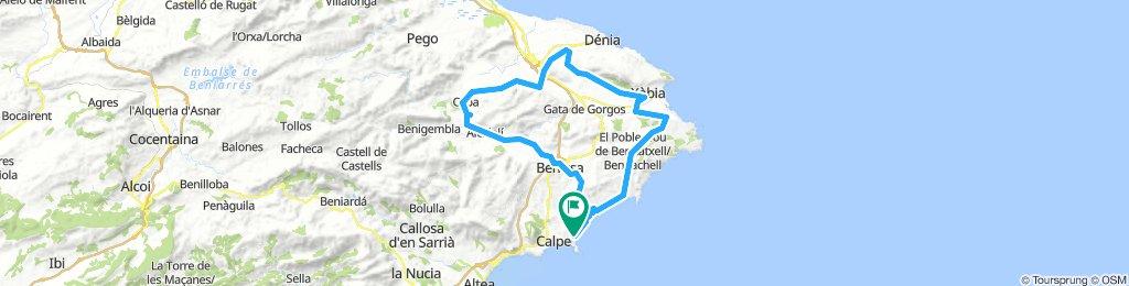 Calpe -Ruta 1: de La Xara