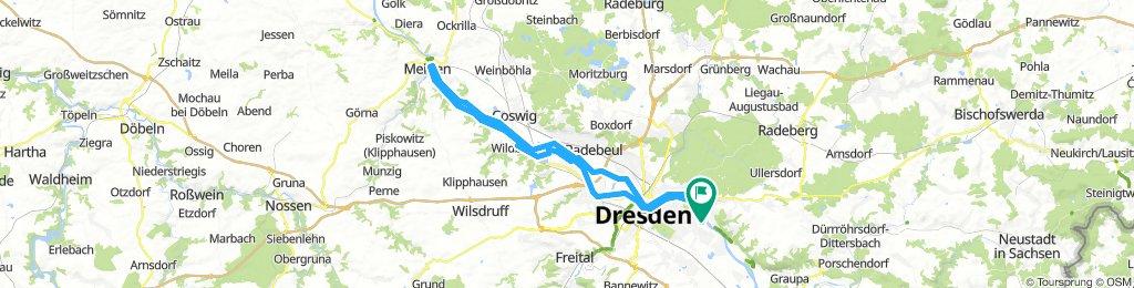 Elbe hin und her bis Meißen