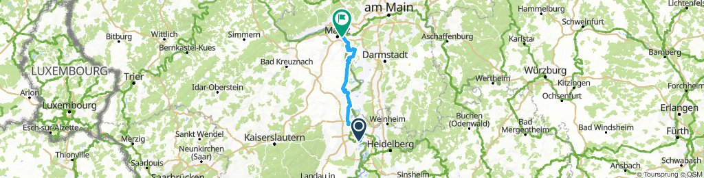 Niederfeld to Ginsheim-Gustavburg