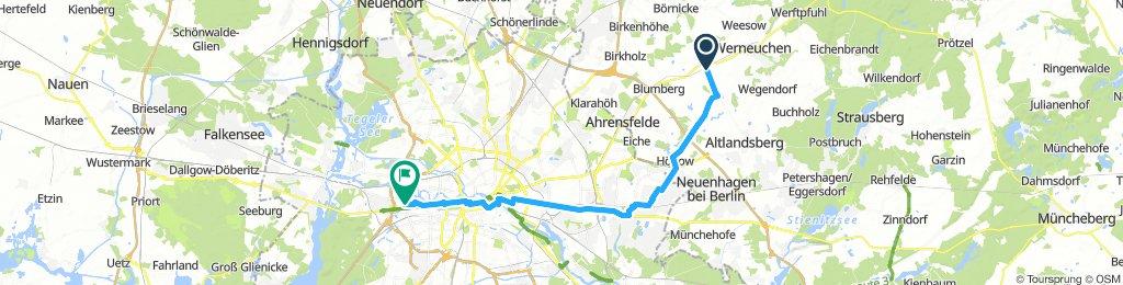 Rückfahrt von Seefeld nach Charlottenburg