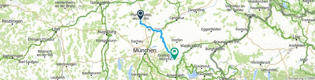 D 457: Pfaffenhofen/Ilm - Pfaffing (bei Wasserburg/Inn)