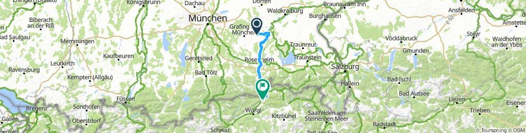 D 458: Pfaffing - Wasserburg/Inn - Kufstein