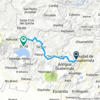 Vuelta a Guatemala inventada Etapa 6 Mixco-Solola