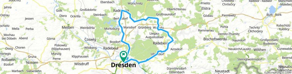 nördlich von Dresden