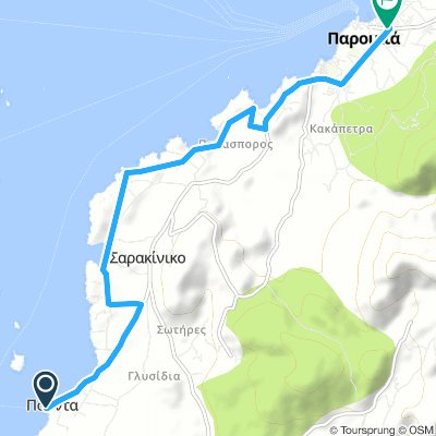 Cycling routes and bike maps in and around Antíparos ...