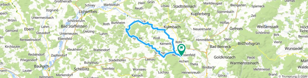 Neudrossenfeld über Thurnau-Kasendorf-Görauer Anger-Weissmain-Kulmbach