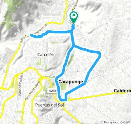 18 km Bicentenario, Carapungo, Morán, Pusuquí