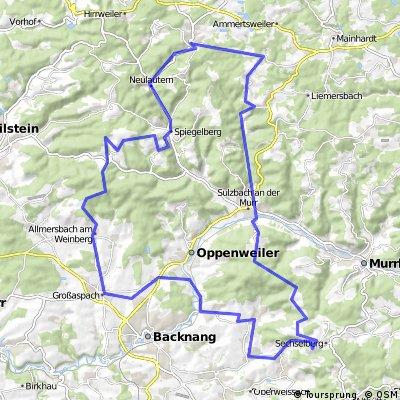 Aspach-Sechselberg-Wüstenrot-Juxkopf