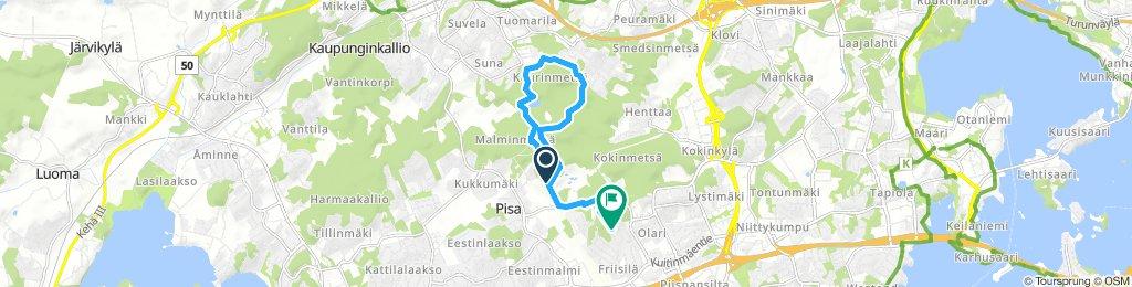 Slow Sunday Course In Espoo mtb