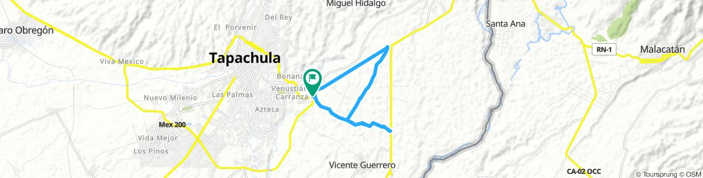 Long Morning Route In Tuxtla Chico