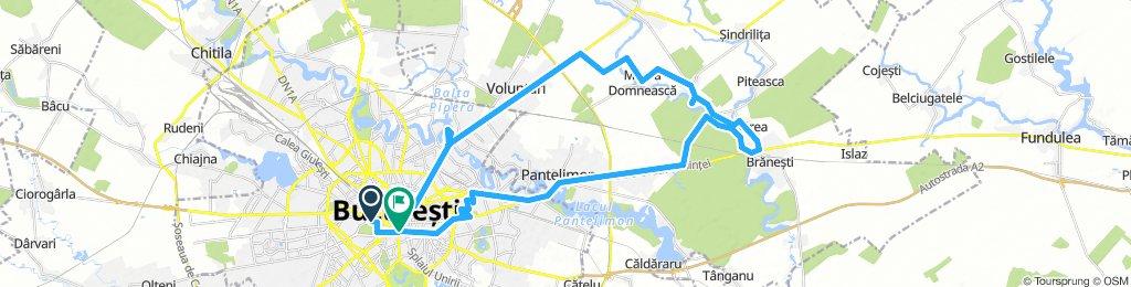 Bucuresti - Voluntari - Moara Domneasca - Ganeasa - Cozieni - Pasarea - Branesti - Pantelimon - Bucuresti