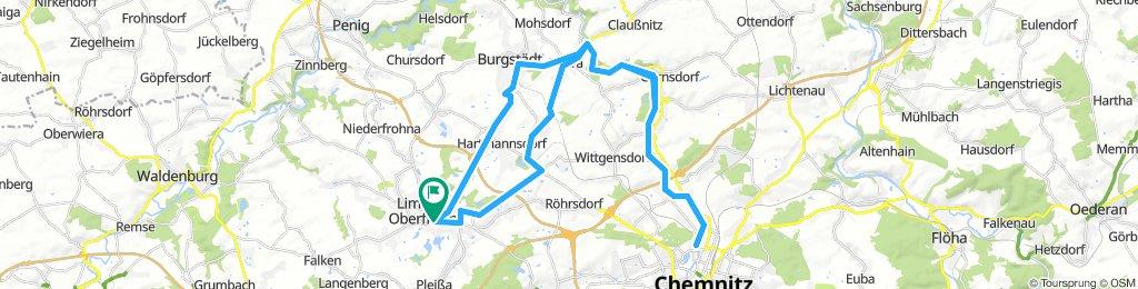 Chemnitztalradweg hoch und über herrenhaide zurück