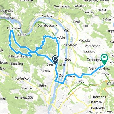Szentendre-Pilis109km1330m szint nehéz