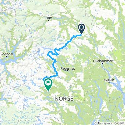 Vinstra til Ål Bikepacking tour