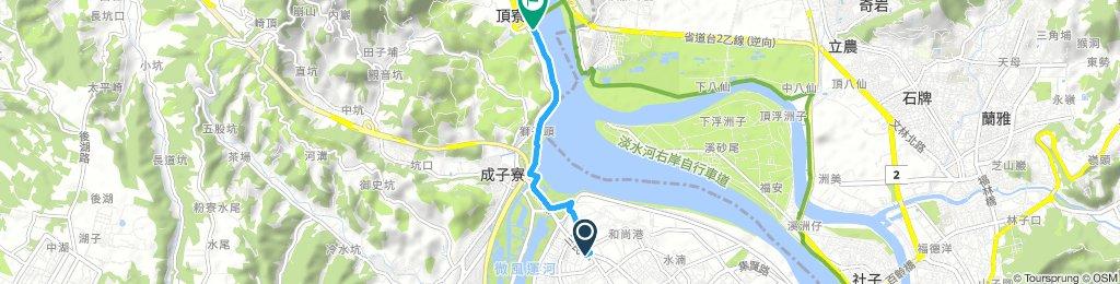 蘆洲捷運站到八里關渡大橋下