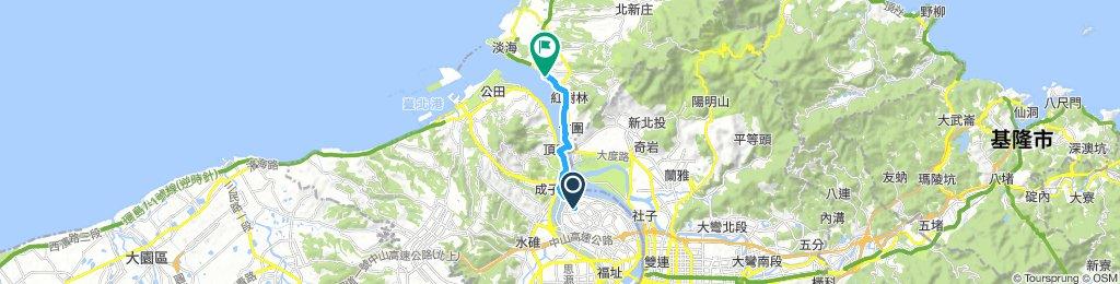 蘆洲捷運站到淡水捷運站