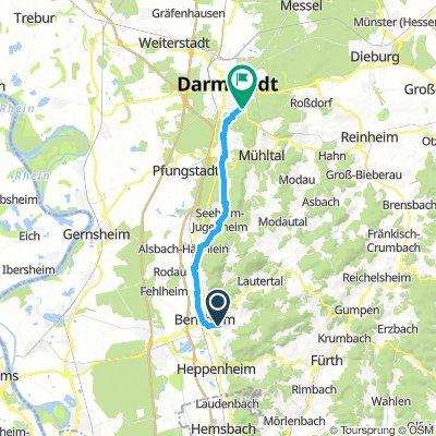 Zellertal/Bensheim - Darmstadt