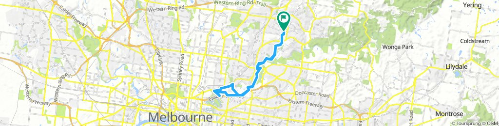 Greensborough to Fitzroy