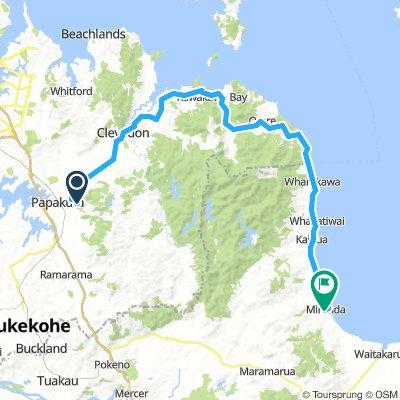 Depart (Auckland) à Miranda