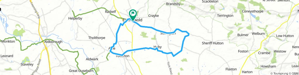 Sunday Easingwold south loop, 20 or 33 miles Which is it, Bikemap?