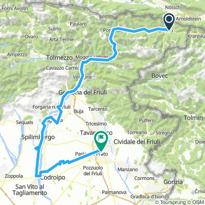 San-Daniele Richtung Udine
