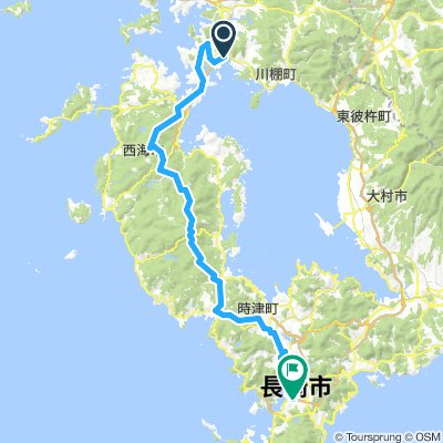 Cycling routes and bike maps in and around Sasebo | Bikemap