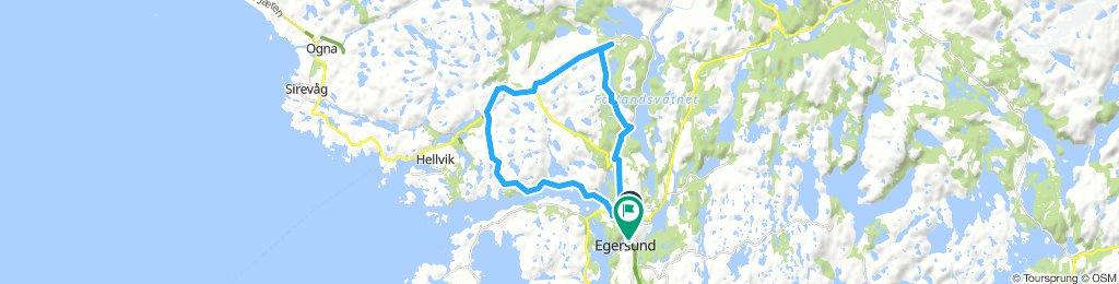 GEObike Egersund- Hellvik- Egersund