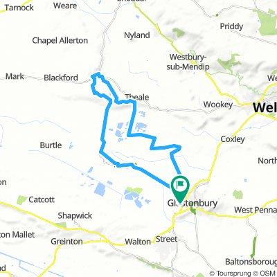 Glastonbury - Wedmore, 18 miles