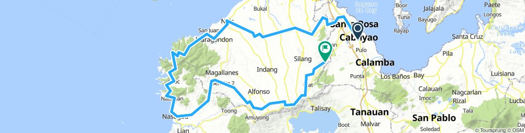 Cabuyao City to Kaybiang Tunnel,Nasugbu Loop