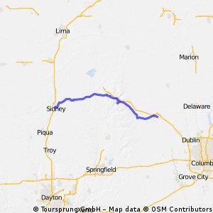 Sidney to Marysville