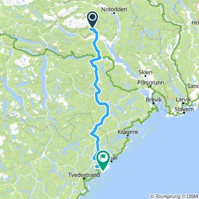Lang & lett lørdag til Sørlandet