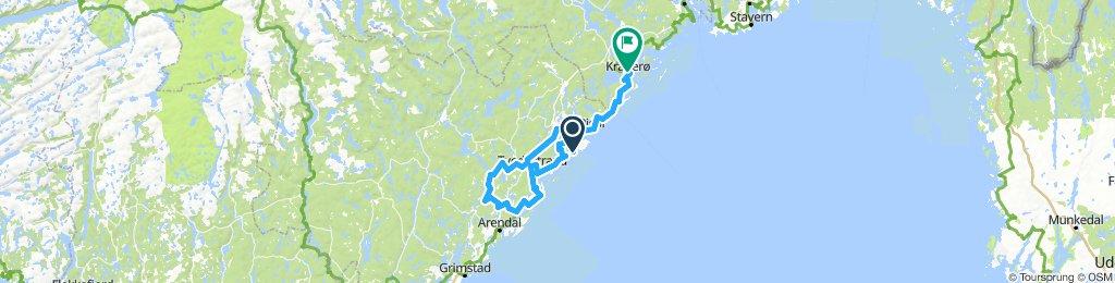 Søndagstur gjennom Sørlandet