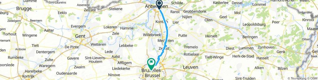 Berchem (Antwerp) - Brussels via F1