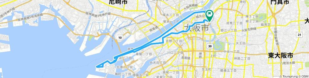 Osaka Yodogawa river route