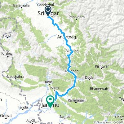 srinager to Jammu