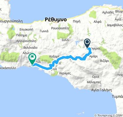 Apostoli-Gerakari-Spili-Kourtaliotiko Gorge - Fishing village of Plakias - Souda Plakias