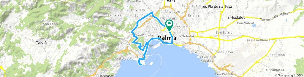 Mallorca: plaça d'Espanya (Palma)-castell de Bellver-Porto Pi-plaça d'Espanya