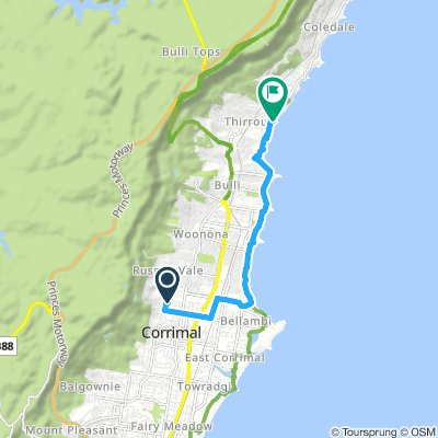 Extensive Early Morning Route In Thirroul