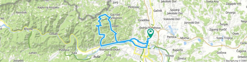 Košaki - Bresternica - Zg.Slemen - Žavcarjev vrh - Srednje - Bresternica - Maribor