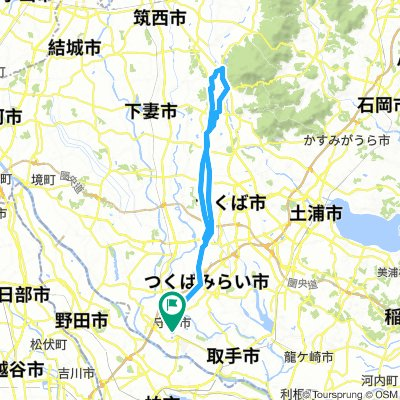 Minami Moriya to the slopes of Mt Tsukuba and back.