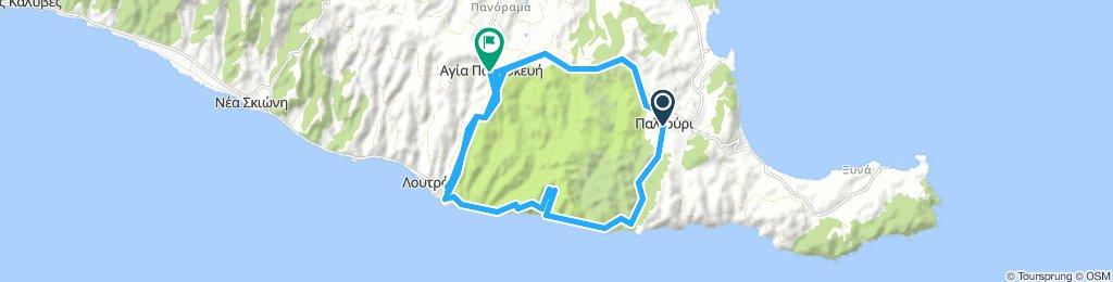 Paliouri, Agios Paraskevi, Paliouri coast road