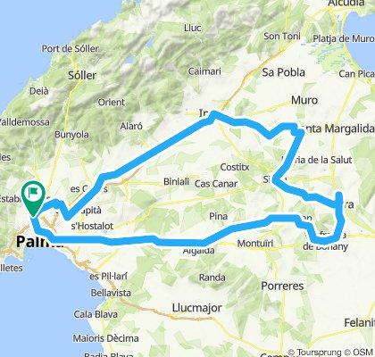 Petra por Inca, Llubí y Sineu