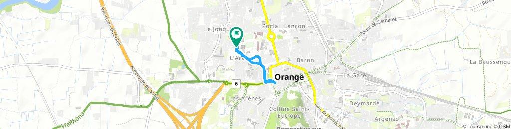 Itinéraire modéré en Orange