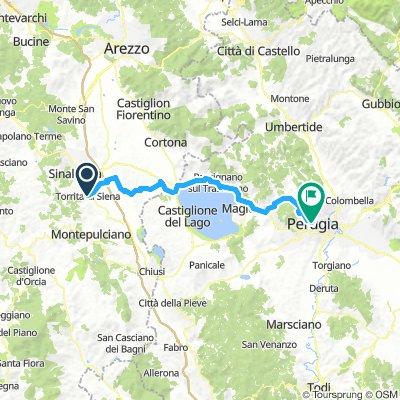 Tag 3 Torrita di Siena - Perugia