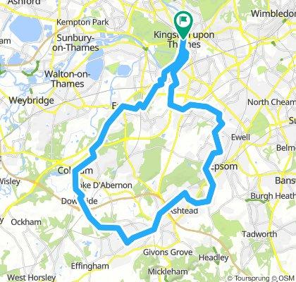 midweek ride to Ashtead