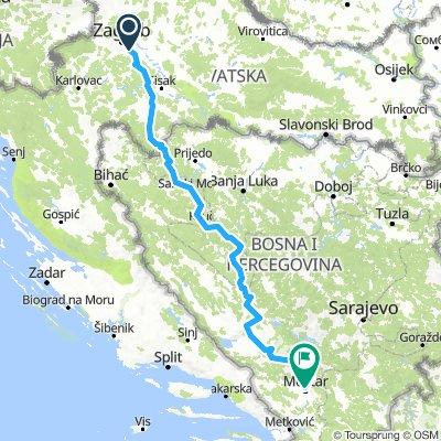 Zagreb-Mostar