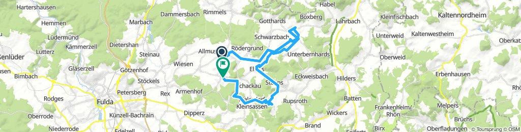 Ochsentour  durch die Gemeinde Hofbieber