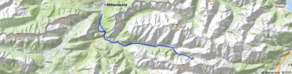 Von Mittenwald zum Hallerangerhaus